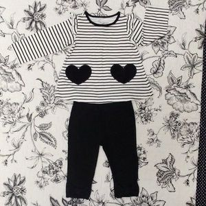 First Impressions Girls 2pc Outfit Size 6-9m